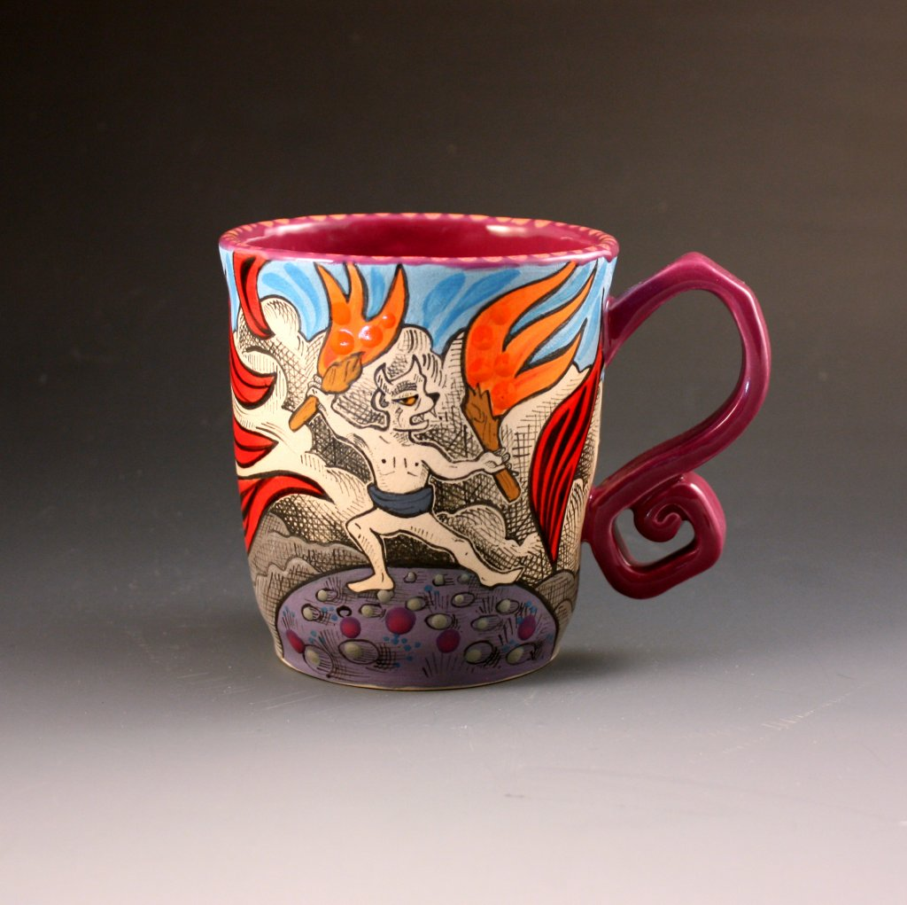 Fire Imp Mug by Laura Cooper El